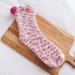 Pink cupcake sock